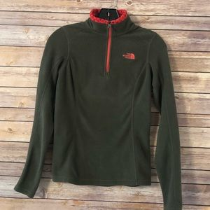 The North Face quarter zip pull over sweater